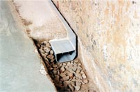 French drain or drain tile installed on the perimeter in Iowa