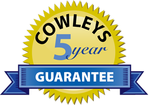 Cowleys 5 year guarantee