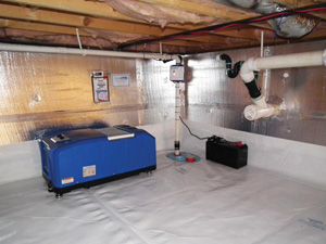 Crawl space drainage & dehumidification in Plano
