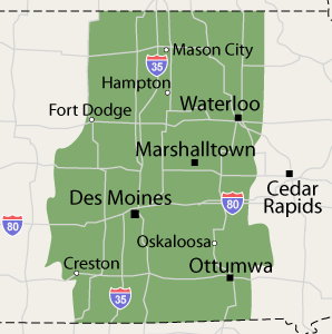 Our Iowa Service Area