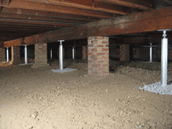 crawlspace supports in Tolland, CT