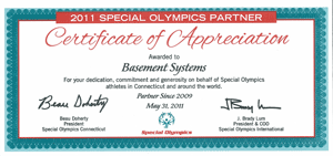 Connecticut Basement Systems is proud to be a sponsor of the Special Olympics CT for the 3rd consecutive year! ...