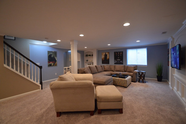 Design ideas for basement finishing remodeling in novi south lyon rochester mi - Finished basement ideas pictures ...