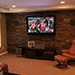 Remodeled basement living room