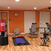 Remodeled basement workout room