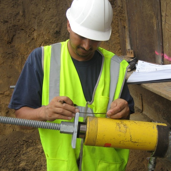 Wall anchor testing for foundation repair in Greater Pittsburgh
