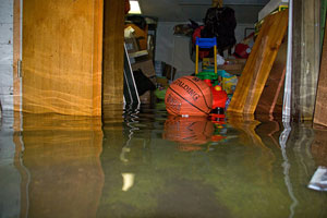 A basement without a battery backup sump pump can easily flood