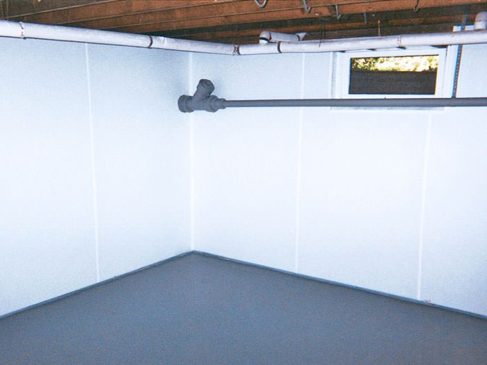 Installed basement wall panels in Burlington, ON