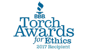 Ohio Basement Authority BBB Torch Award for Ethics 2017 Recipient