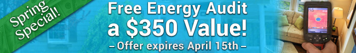 Spring Special! Get a Free Energy Audit - A $350 Value until April 15th
