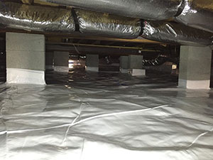 Completed Crawl Space Encapsulation
