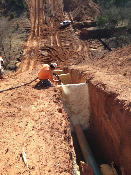 Pipeline Trench Breakers Polylevel Stabilization