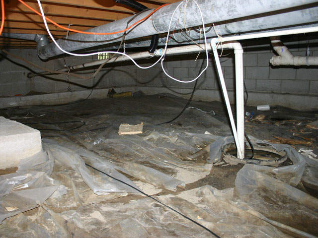 The regional clean crawl space system in north carolina for Crawl space conversion cost