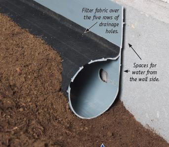 Crawl space drain pipe system installed in Winterville