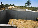Foundation waterproofing application on a new foundation