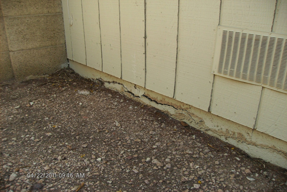 foundation concrete cracks in an Phoenix AZ home that need stem wall repair