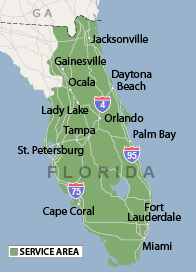 Our Florida Service Area