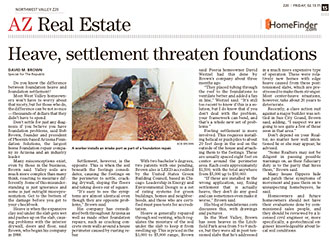 Heave, settlement threaten foundations