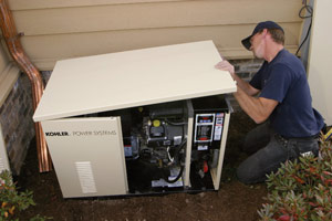 Generator installation in Northern New Jersey.