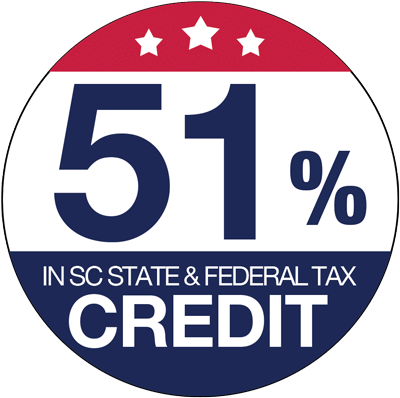 51% in SC State & Federal Tax Credit