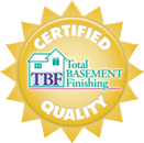 Everlast Basement Walls panels are TBF certified