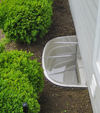 basement egress window well in Bloomfield