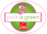 Pink is Green Owens Corning logo
