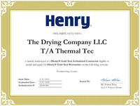 Henry Gold Seal Authorized Contractor of Waterproofing Systems