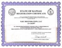 Registered Roofer in the State of KS