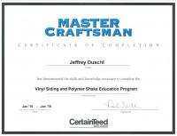 CertainTeed Vinyl Siding and Polymer Shake Master Craftsman