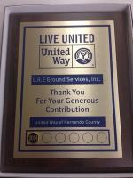 The United Way of Hernando County Recognizes L.R.E.