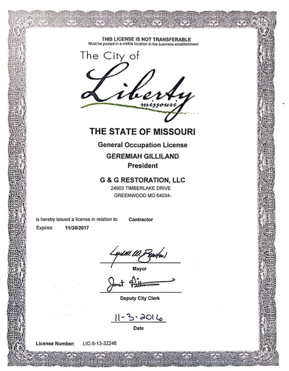 City of Liberty, MO Business License