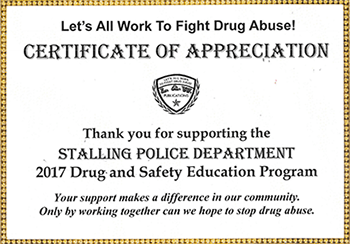 Stalling Police Department - 2017 Drug and Safety Education Program