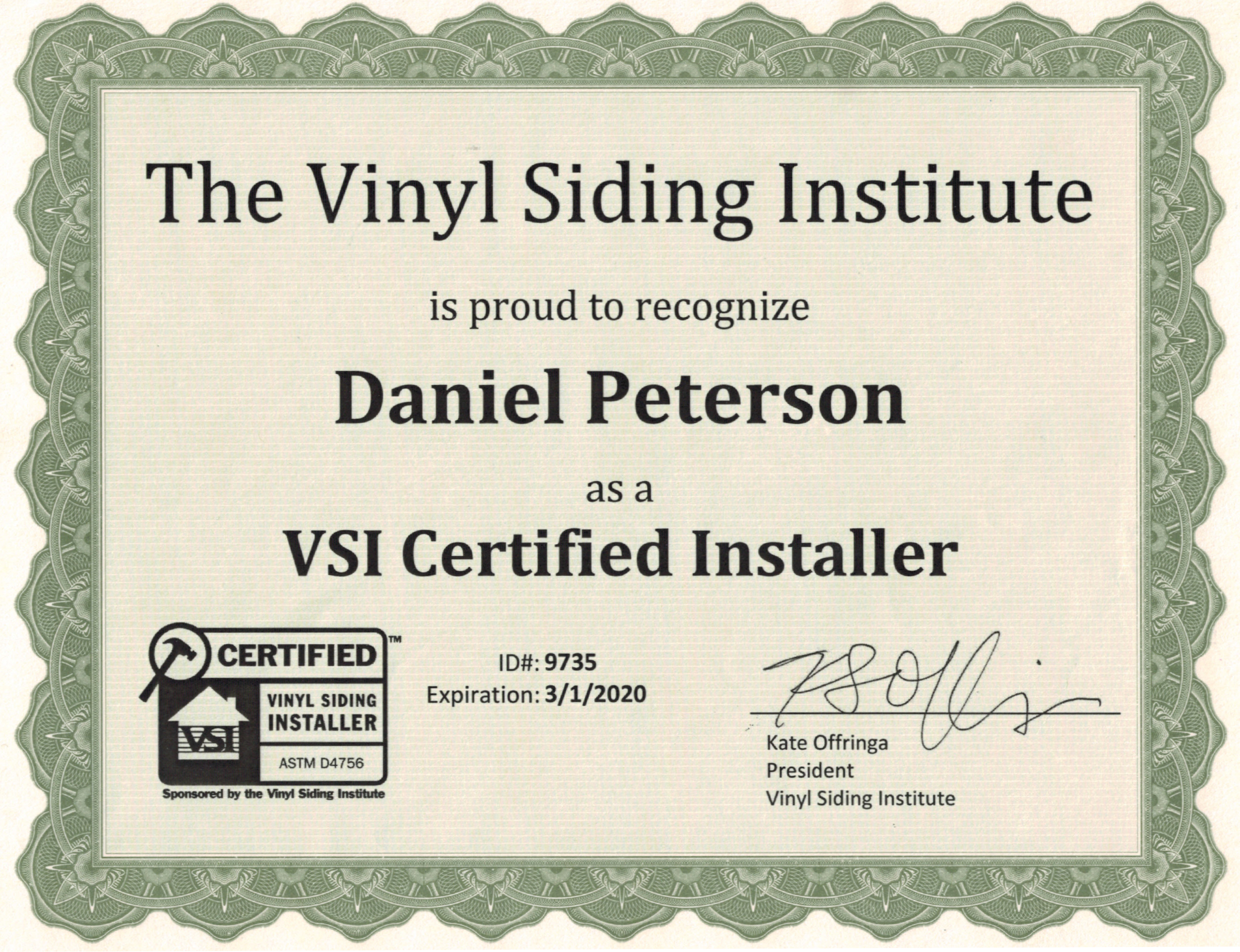 The Vinyl Siding Institute