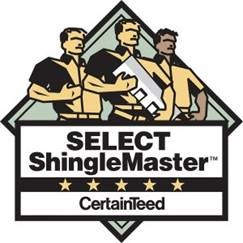 Select ShingleMaster Certified by CertainTeed