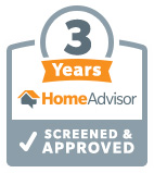 3 Years Home Advisor Screened & Approved