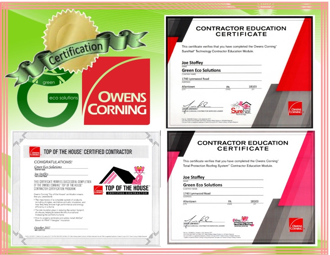 Owens Corning Certifications